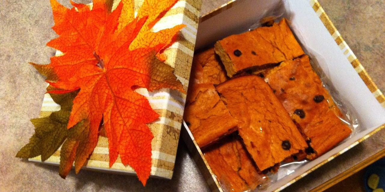 Thanksgiving Pumpkin Bars